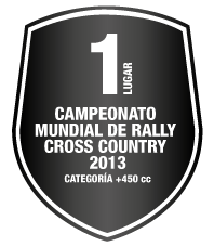 1 lugar - Campeonato Mundial de Rally Cross Country 2013