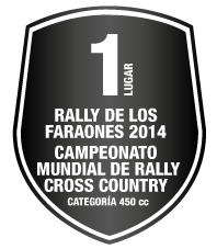 1 lugar - Rally de los Faraones 2014 / Campeonato Mundial de Rally Cross Country